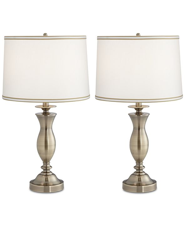 Kathy Ireland Pacific Coast Set of 2 New England Village Table Lamps, Created for Macy's