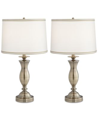 Delightful Pacific Coast Set Of 2 New England Village Table Lamps, Created For Macyu0027s