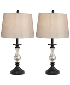 Pacific Coast Set of 2 Ammolite Flute Table Lamps, Created for Macy's