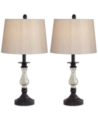 Pacific Coast Set Of 2 Ammolite Flute Table Lamps, Created For Macyu0027s