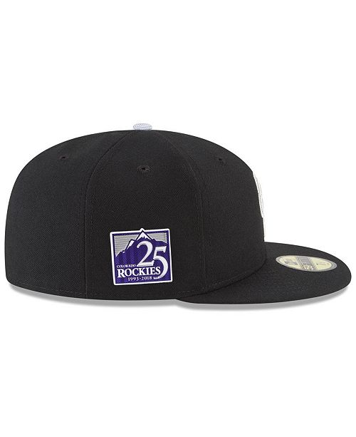 1253735e47d New Era Colorado Rockies Authentic Collection 25th Anniversary 59FIFTY Cap  ...
