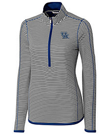 Cutter & Buck Women's Kentucky Wildcats Drytec Trevor Stripe Quarter-Zip Pullover