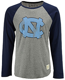 Retro Brand Men's North Carolina Tar Heels Team Logo Raglan T-shirt