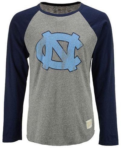 Retro Brand Men's North Carolina Tar Heels Team Logo Raglan T-shirt