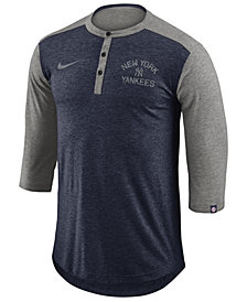 Nike Men's New York Yankees Dry Henley Top