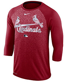 Nike Men's St. Louis Cardinals AC Cross-Dye Raglan T-Shirt