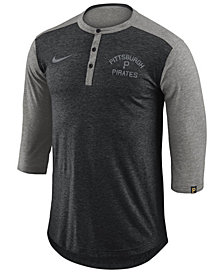 Nike Men's Pittsburgh Pirates Dry Henley Top