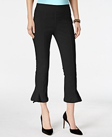 INC Ruffled-Hem Cropped Pants, Created for Macy's