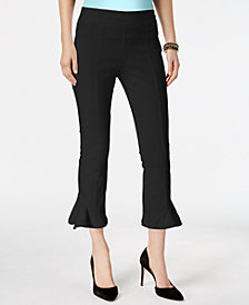 I.N.C. Petite Ruffled-Hem Capri Pants, Created for Macy's