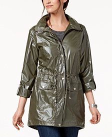 Style & Co Shiny Roll-Tab-Sleeve Anorak, Created for Macy's