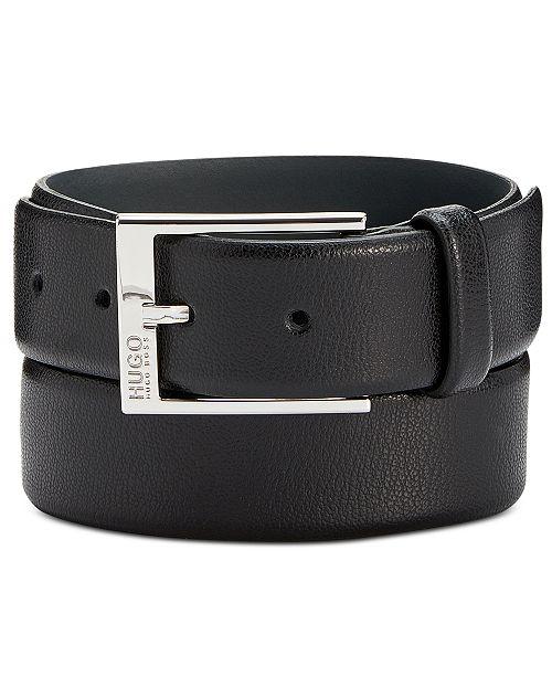 5c7f0a7aeda Hugo Boss Men s Gellot Leather Belt   Reviews - All Accessories ...