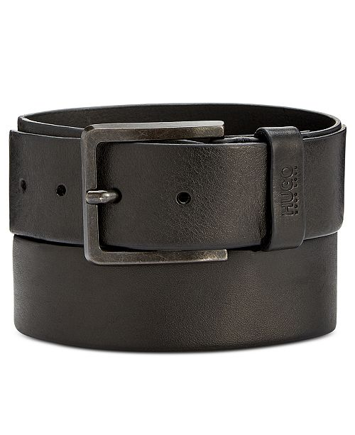 aaf277ff58e Hugo Boss Men s Gionios Casual Leather Belt   Reviews - All ...