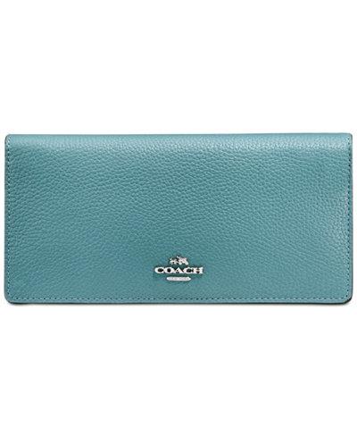 COACH Slim Wallet in Colorblock