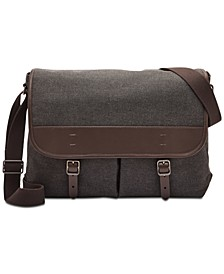 Men's Buckner Canvas Messenger Bag