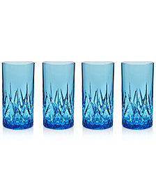 Q Squared Aurora Topaz Highball Tumblers, Set of 4