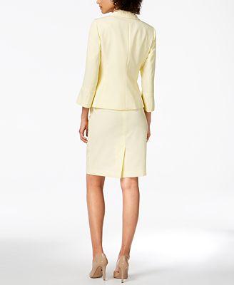Le Suit Seersucker Skirt Suit Wear To Work Women Macy S