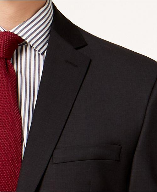 e7c965dedd ... Vince Camuto Men's Coolmax Slim-Fit Stretch Black Check Suit ...
