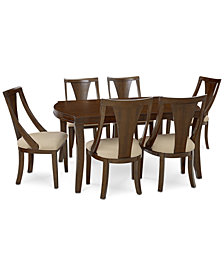 Portland Expandable Dining Furniture, 7-Pc. Set (Dining Table & 6 Side Chairs), Created for Macy's