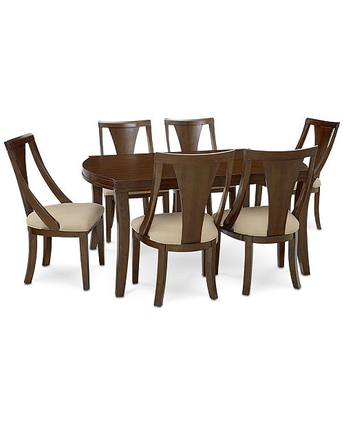 Furniture Portland Expandable Dining Furniture, 7-Pc. Set (Dining Table & 6 Side Chairs), Created for Macy's
