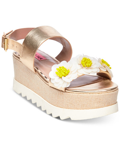 Betsey Johnson Pipper Wedge Sandals