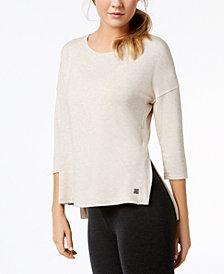 Calvin Klein Performance 3/4-Sleeve Drop-Shoulder Top