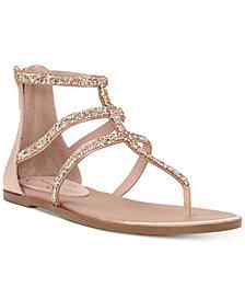 Jessica Simpson Cammie Sparkle Strap Flat Sandals