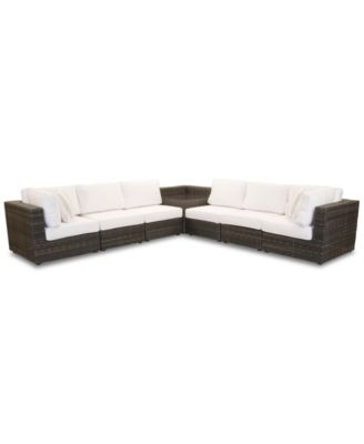 Viewport Outdoor 7-Pc. Modular Seating Set (2 Corner Units, 4 Armless Units and 1 Corner Table), Created for Macy's