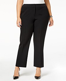 Plus Size Straight-Leg Modern Dress Pants
