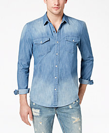 American Rag Men's Denim Western Shirt, Created for Macy's