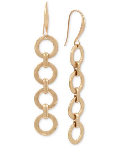 Robert Lee Morris Soho Gold-Tone Link Linear Drop Earrings