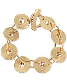 Robert Lee Morris Soho Gold-Tone Disc Link Bracelet