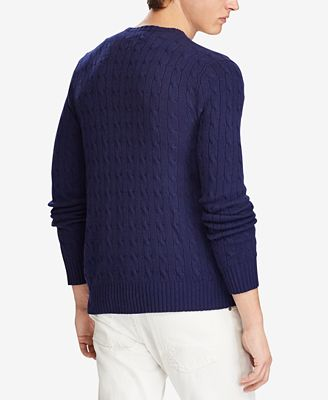 Polo Ralph Lauren Mens Cable Knit Cashmere Sweater Sweaters Men