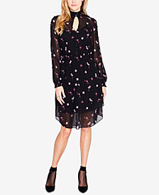 RACHEL Rachel Roy Floral-Print Smocked Chiffon Dress
