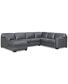 Gray Leather Sectional Sofas & Couches - Macy\'s