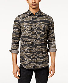 G-Star Men's Camo-Print Shirt, Created for Macy's