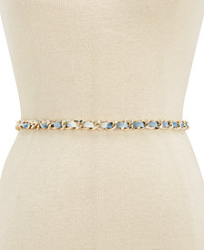 Steve Madden Tie-Dyed Chain Belt