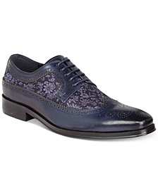 Tallia Men's Sergio Mixed-Media Tweed Oxfords