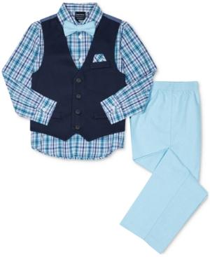 Nautica 4-Pc. Plaid Shirt,...