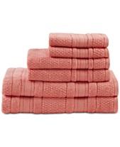 Madison Park Essentials Adrien Cotton 6 Pc Super Soft Towel Set