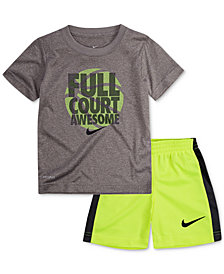 Nike 2-Pc. Basketball Graphic-Print T-Shirt & Shorts Set, Toddler Boys