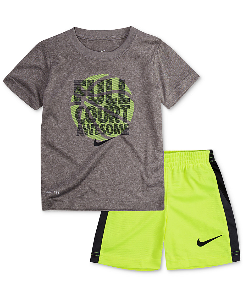 ef229cf44 Nike 2-Pc. Basketball Graphic-Print T-Shirt & Shorts Set,