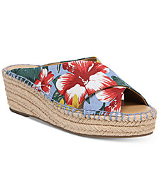 Franco Sarto Polina Espadrille Platform Wedge Sandals, Created for Macy's