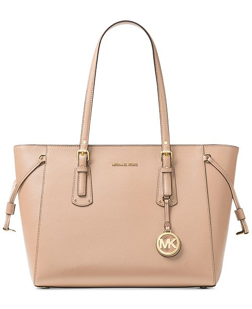 5fbffd7b73165c Michael Kors Voyager Medium Crossgrain Leather Tote & Reviews ...
