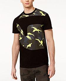 G-Star RAW Men's Froatz Oversized Neon Camouflage Logo-Print T-Shirt