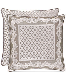 """J Queen New York Bel Air Sand 20"""" Square Decorative Pillow"""