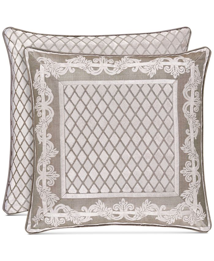 """J Queen New York - Bel Air Sand 20"""" Square Decorative Pillow"""