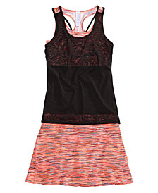 Ideology Layered-Look Tank Top & Skort Separates, Big Girls, Created for Macy's
