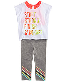 Ideology Graphic-Print T-Shirt & Leggings Separates, Big Girls, Created for Macy's