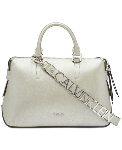 Calvin Klein Maggie Leather Small Satchel