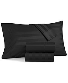 Charter Club Damask Stripe King 4-Pc Sheet Set, 550 Thread Count 100% Supima Cotton, Created for Macy's